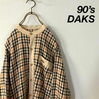 DAKS - 90's DAKS チェック柄 スタンドカラー シャツ
