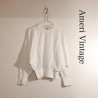 Ameri VINTAGE - 大人気【AMERI Vintage】シアードルマンスリーブニットホワイト