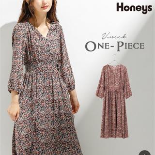 HONEYS - ✿Honeys✿花柄ロングワンピース