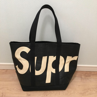 Supreme - supreme  raffia tote  black