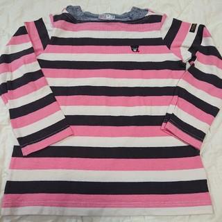DOUBLE.B - ミキハウス  ダブルB ボートネック☆マルチボーダー長袖Tシャツ  110