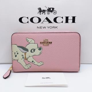 COACH - 【新品】COACH ミディアム財布 ダルメシアン  ピンク