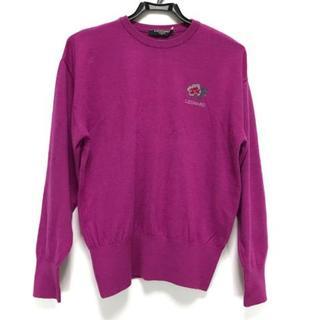 レオナール(LEONARD)のレオナール 長袖セーター サイズM - ピンク(ニット/セーター)