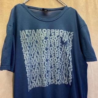 Jil Sander - JILSANDER ジルサンダー イタリア製 ロゴ Tシャツ 古着 ネイビー