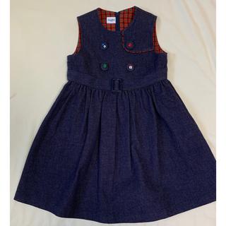 familiar - ファミリア♡ワンピース ジャンパースカート 110サイズ