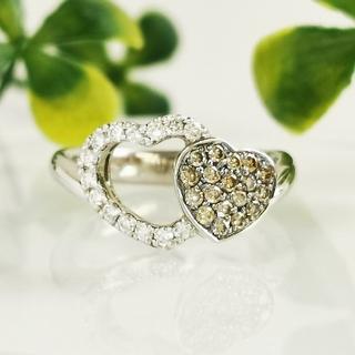 Pt900 ダイヤモンド ハート レディース リング(リング(指輪))