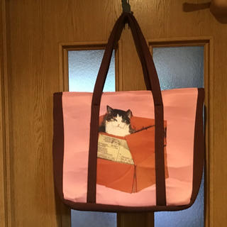 Manhattaner's - マンハッタナーズ 猫柄 トートバック 天ファスナー