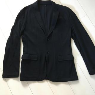 ムジルシリョウヒン(MUJI (無印良品))の無印良品 メンズ綿混ソフトジャケット黒(テーラードジャケット)