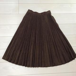 テチチ(Techichi)の【新品】テチチ フェイクスエードプリーツスカート(ロングスカート)