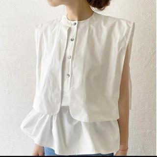 HOWDY. sailor nosleeve blouse(white)