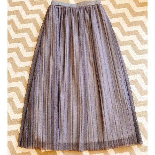 FRAY I.D(フレイアイディー)のチュールレイヤードスカート(グレー) レディースのスカート(ロングスカート)の商品写真