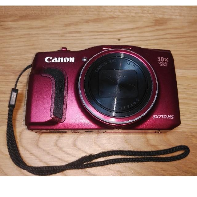 Canon(キヤノン)のキヤノン PowerShot SX710 HS レッド スマホ/家電/カメラのカメラ(コンパクトデジタルカメラ)の商品写真