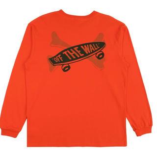 ダブルタップス(W)taps)のLサイズ VANS VAULT X WTAPS ロンTシャツ ORANGE(Tシャツ/カットソー(七分/長袖))