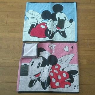 Disney - 送料込🎀新品🎀ディズニーミッキー&ミニーフェイスタオル2枚セット