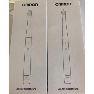 オムロン(OMRON)の【2個】OMRON 音波式電動歯ブラシ 乾電池式 HT-B224-B(電動歯ブラシ)