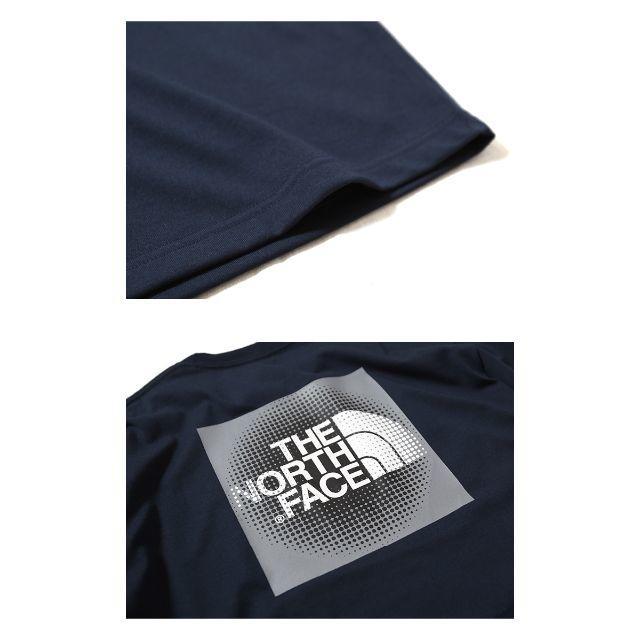 THE NORTH FACE(ザノースフェイス)の【新品】THE NORTH FACE ノースフェイス Tシャツ ネイビー XL メンズのトップス(Tシャツ/カットソー(半袖/袖なし))の商品写真