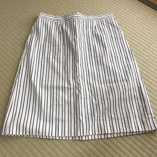 イエナスローブ(IENA SLOBE)のIENA ストライプスカート(ひざ丈スカート)
