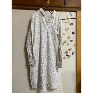 ショコラフィネローブ(chocol raffine robe)のグリーンパークス Chocol raffine ネルシャツ(シャツ/ブラウス(長袖/七分))