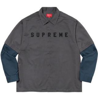 シュプリーム(Supreme)のSupreme 2-tone work shirt dark grey M(シャツ)