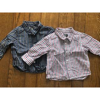 エイチアンドエム(H&M)のH&M チェックシャツ 2枚セット(シャツ/カットソー)