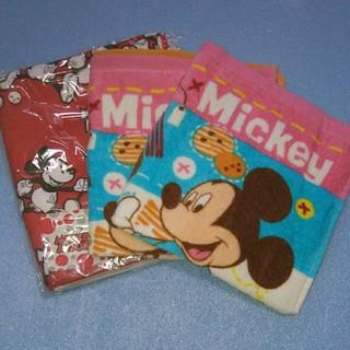 ミッキーマウス - ウォッシュタオル2枚&フェイスタオルセット