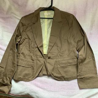 フェリシモ(FELISSIMO)のフェリシモ LL ブラウン ジャケット(テーラードジャケット)