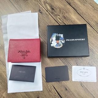 PRADA - ★未使用品★PRADAプラダ 二つ折り財布 SAFFIANO SHINE