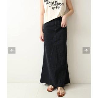 プラージュ(Plage)のPlage【ヘルシーデニム】LONG SLIT BLACKスカート36(ロングスカート)