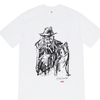 Supreme - Supreme Yohji Scribble Portrait Tee白L