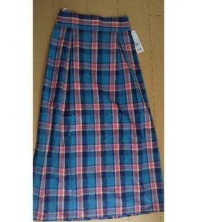 タグ付新品 レナウン マドラスチェックタイトスカート