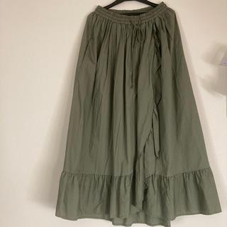 ロデオクラウンズワイドボウル(RODEO CROWNS WIDE BOWL)のrcwb 巻きフリルロングスカート(ロングスカート)