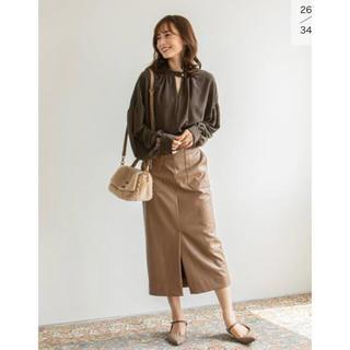 ノーブル(Noble)のフェイクレザーロングタイトスカート(ロングスカート)
