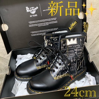 Dr.Martens - 新品未使用ドクターマーチン バスキアUK5 24cmハイカット ブーツ革靴皮靴