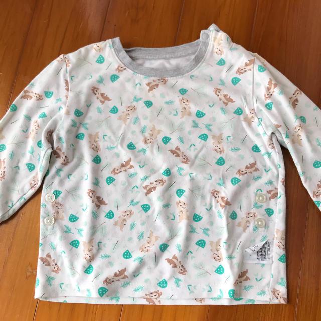 UNIQLO(ユニクロ)のユニクロベビー チップとデール パジャマとロンTのセット size90 キッズ/ベビー/マタニティのキッズ服男の子用(90cm~)(パジャマ)の商品写真