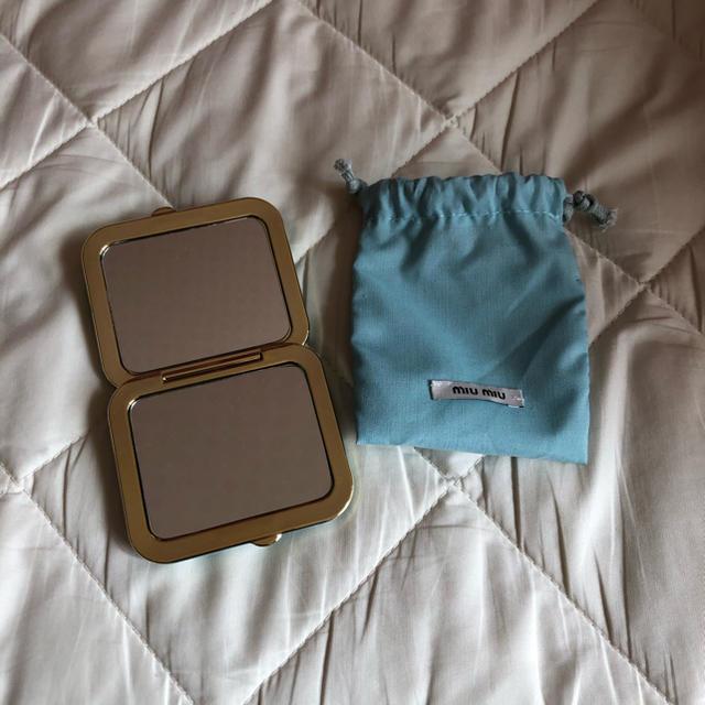 miumiu(ミュウミュウ)のmiumiu ミラー レディースのファッション小物(ミラー)の商品写真