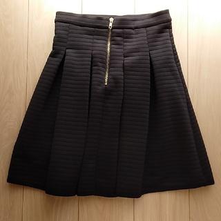 カプリシューレマージュ(CAPRICIEUX LE'MAGE)のCAPRICIEUX LE'MAGE フレアスカート 黒(ひざ丈スカート)
