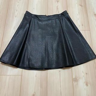 エイチアンドエム(H&M)のH&M フェイクレザースカート XS(ミニスカート)