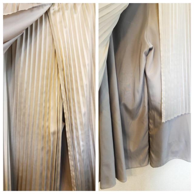 eimy istoire(エイミーイストワール)の【最終値下げ】エイミーイストワール★プリーツパンツ★グレー アシンメトリー 変形 レディースのスカート(ロングスカート)の商品写真