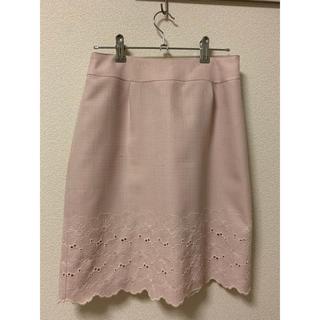 Debut de Fiore - 薄ピンク 裾刺繍タイトスカート