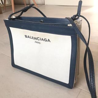 バレンシアガ(Balenciaga)のバレンシアガ◎ネイビーポシェット◎旧ロゴ(ショルダーバッグ)