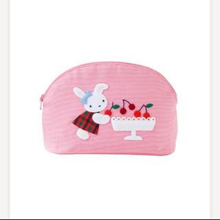 familiar - ファミリア  デニムポーチ ポーチ ピンク ウサギ サクランボ ウサギ