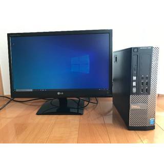 デル(DELL)のDELL i5 SSD 500GB  GT1030 LG21.5インチモニター(デスクトップ型PC)