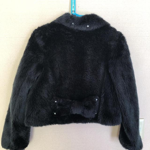 Angelic Pretty(アンジェリックプリティー)のAngelic Pretty ファーコート 黒 レディースのジャケット/アウター(毛皮/ファーコート)の商品写真