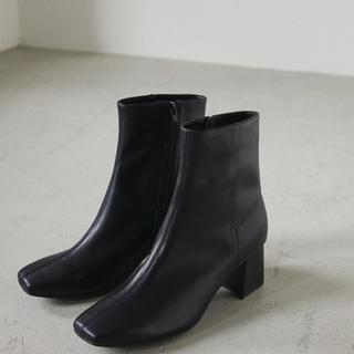 新品 スタイルミキサー  スクエアトゥレザーミドルブーツ(ブーツ)