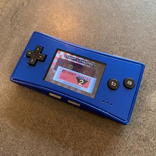 ゲームボーイアドバンス - ゲームボーイミクロ 欧米限定ブルー 本体 付属品完備 バックライト アドバンス