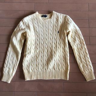 Ralph Lauren - ラルフローレン 黄色のカシミア混の暖かセーター