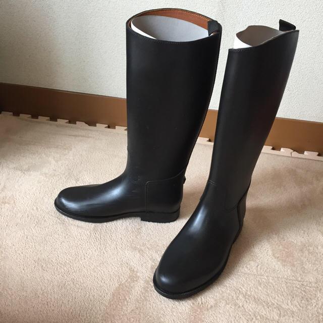 MUJI (無印良品)(ムジルシリョウヒン)のレインブーツ S 黒 乗馬タイプ 無印 レディースの靴/シューズ(レインブーツ/長靴)の商品写真