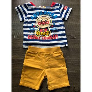 futafuta - アンパンマン  Tシャツ、futafuta 半ズボン 80サイズ 2点セット
