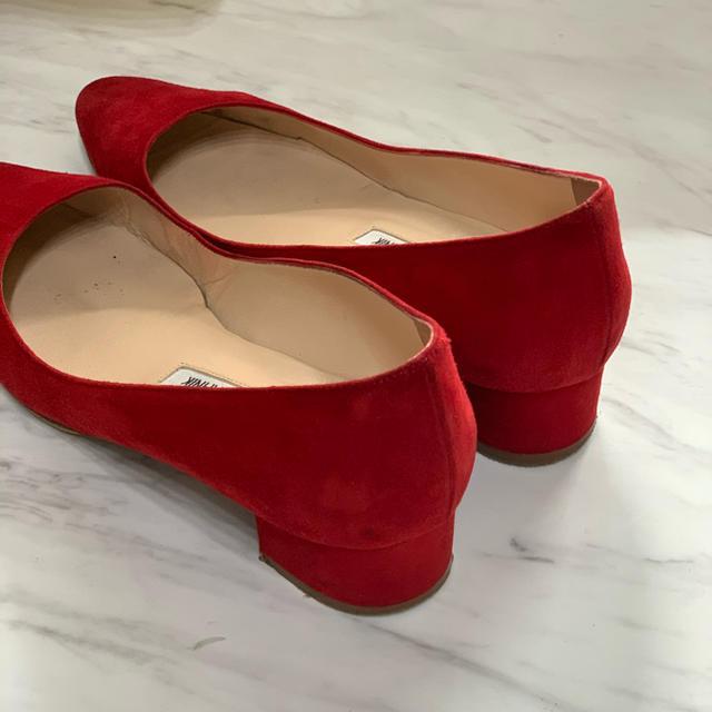 MANOLO BLAHNIK(マノロブラニク)のMANOLO BLAHNIKマノロブラニク ローヒール RED レディースの靴/シューズ(ハイヒール/パンプス)の商品写真