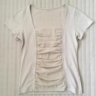 ディーエイチシー(DHC)のDHC カットソー  ベージュ(Tシャツ(半袖/袖なし))